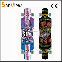 2016 new design graphic long boards skate longboard