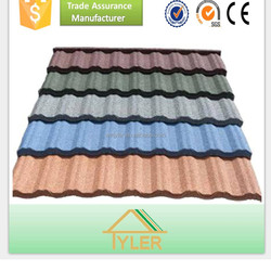 low price beautiful appearance color stone coated metal roofing tile