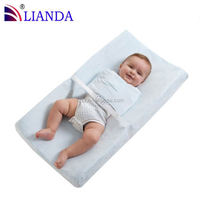 Ergonomic four sided design to make baby comfortable diaper changing mat, pu baby change pad, diaper changing mat
