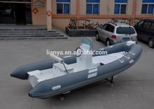 liya 17ft motor fuera de borda el tipo de barco de pesca inflable para la venta