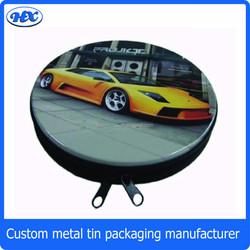 Car CD tin case for CD DVD round CD tin case round metal tin CD box