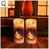 Hot Sale customize decorative Citronellas Paraffin wax flickering battery operated candles LED pillars/