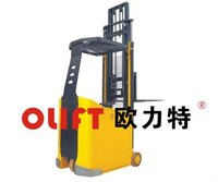 Very electric narrow aisle articulating forklift