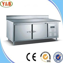 Supermarket 2 doors chest freezer made in super stainless steel