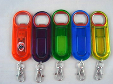 colorful plastic bottle opener USB Flash drive with keychain