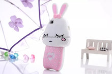 Shy rabbit silicon soft cover for iphone 5