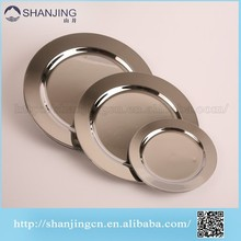 Tableware disposable plastic dishes and plate in silver coated
