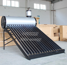 Classical black nonpressure solar water heater with painted steel solar boilers