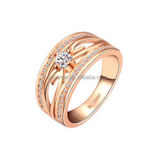 wholesale HOT selling women fashion finger ring no.LKG1503 18K gold plated jewelry