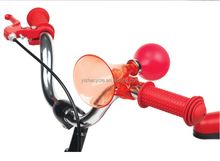 Lovely plastic straight tube with a variety of rubber air horn style bicycle bells/girls gift bell