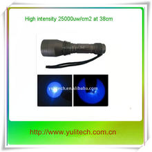 2014 hottest selling--High power rechargeable 365nm Nichia UV LED Flashlight