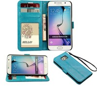 Book style Flip leather mobile phone case for Samsung galaxy s6