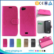 New products Gird pattern leather case folio cover for Asus Zenfone 2E with stand