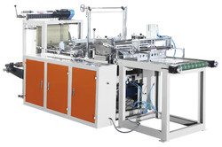 High speed automatic T shirt palstic bag making machine/Hot sealing cutting bag-making machine