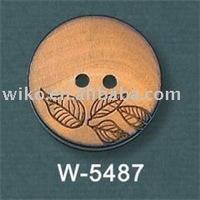 natural laser wooden button