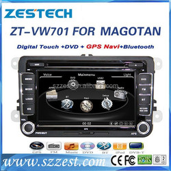 ZESTECH Wholesale 8inch 2 din car gps for volkswagen MAGOTAN with auto radio dvd gps bluetooth tv function