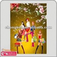 customized 3d lenticular PET PP beautiful girl advertising poster picture