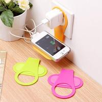 Foldable Plastic mobile cell phone charger charge holder for Travel