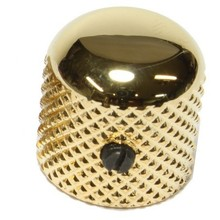 Custom gold metal knurled control knob for Electric Guitar