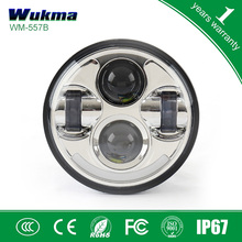 2015 New product 5.75inch motorcycle headlight,car accessories 5.75inch round 40W led headlight with white ring