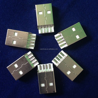 4Pin USB A male short straight for 2.0 connector manufacturer