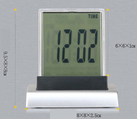 LED colorful color mute Temperature small alarm clock Temperature timing