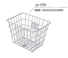 China manufacturer 2015 hot sale bicycle basket / white iron steel bicycle basket / bicycle basket