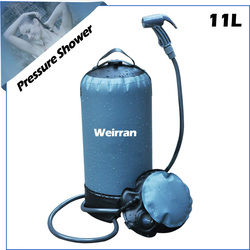 (04212) 2.9 gallon with foot pump strong material portable solar camping shower bucket