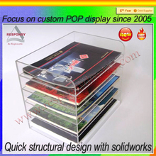 Simple design acrylic clear countertop book stand