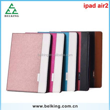 Colorful leather case for ipad air 2 slim smart stand leather case