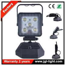 2015 most popular magnetic work light 5JG-W05115W Rechargeable LED Emergency Light with USB cables
