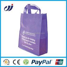 Travel wholesale purple non woven shopping bag