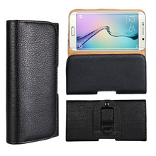 Litchi PU leather holster pouch case for Samsung S6 Edge