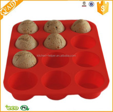 Skillful Manufacture Practical Bakeware 12 Cups Silicone Bread Pan