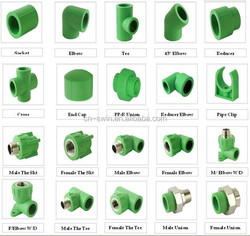 15 years experiences ppr names pipe fittings for new ppr pipe raw material