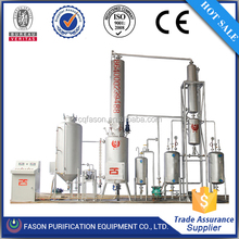 ISO certificated high efficiency vaccum type used oil recycling plant