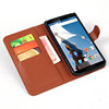 High Quality PU Wallet Leather Case for Google Nexus 6