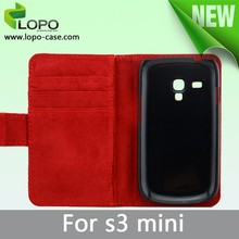 New style blank sublimation leather case for samsung S3 mini with custom image