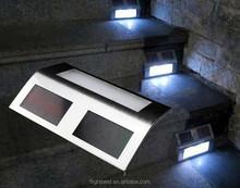 Solar powered 2 escaliers escalier de lumière led blanche, escalier avec 2 led lampe solaire