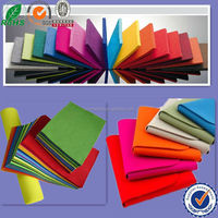 anti-crease and tear resistance colourful 2.5mm thick felt in roll