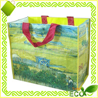 CMYK customized reusable recyclable promotional gift shopping tote grocery carry away wholesale eco nonwoven bag