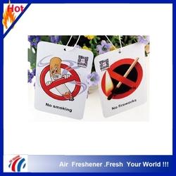 Top Quality Customized Printed Fresh Car Paper Air Freshener