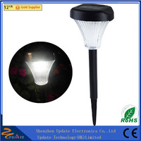 Top Sale Double LED High Lumen Stainless Steel & Plastic Solar Lawn Light led lawn lighting