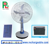 Rechargeable Table Fan Portable Fan Solar Stand Fan with Solar Panel and Bright LED Light Made in China PLD-33T