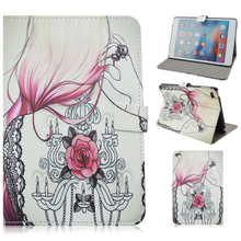2015 New Wholesale Colorful Printing Leather Cover Case for iPad Mini 4 Smart Leather Tablet Case for iPad mini 4