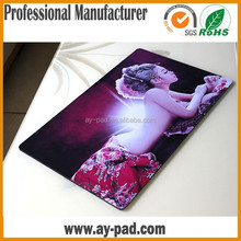"AY Custom Good-looking Lady 24""x14""x 1/16"" Durable Rubber+ Fabric Game Playmat Printing Custom Playmats Rubber Game Mat"