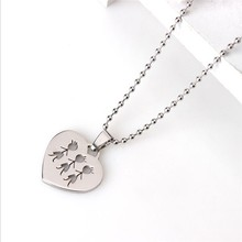 Yiwu Aceon Stainless Steel Triple Little Person Cut Out pendant charm