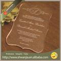 دعوة زفاف بطاقة دعوة الزفاف الاكريليك الرسالة الإنجليزية