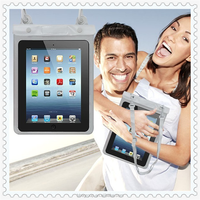 10.1'' Waterproof PVC Diving Bag Underwater Pouch Case For Ipad 3/4 For Ipad air l 100% Real Waterproof Case