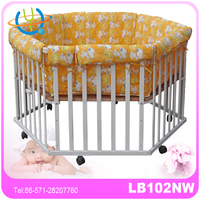 natural wooden baby playpen/lightweight baby fence